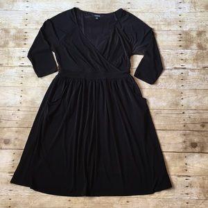 Torrid Black Faux Wrap Dress Size 0X